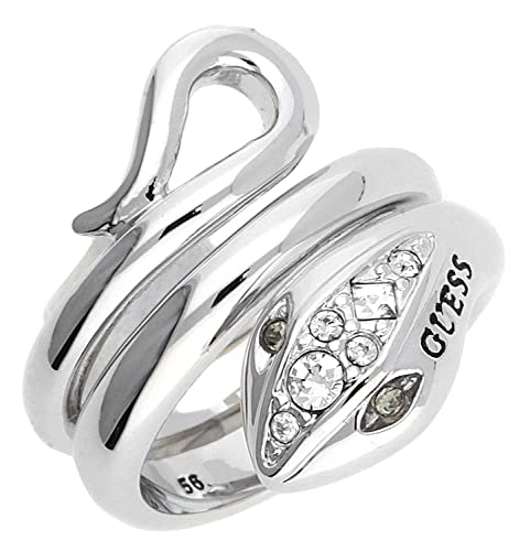 check-out beaucoup de choix de acheter authentique Guess – Anello da Donna in Metallo Lega Vetro Bianco UBR51419, Base Metal,  54 (17.2), cod. UBR51419-54