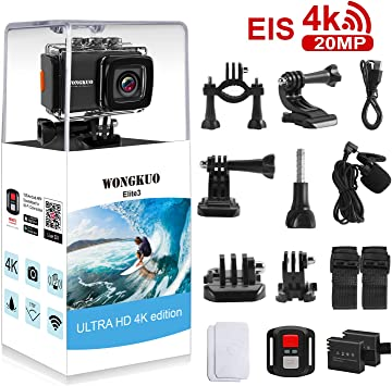 Amazon.com: Cámara de acción WONGKUO UPGRADED 4 K 20 MP EIS ...