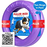 Dog Toy - Interactive Large Medium Dog Training - Fetch Toy - Dental Healthy - Dog Toys Set 2 Rings by Puller Midi Plus