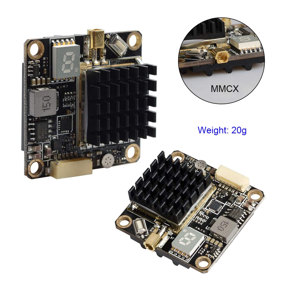 Wirelessan 5.8GHz 250mW/500mW/1000mW/2000mW Power Long Range Switchable FPV Transmitter with MMCX and FC Uart by Wirelessan (Image #2)