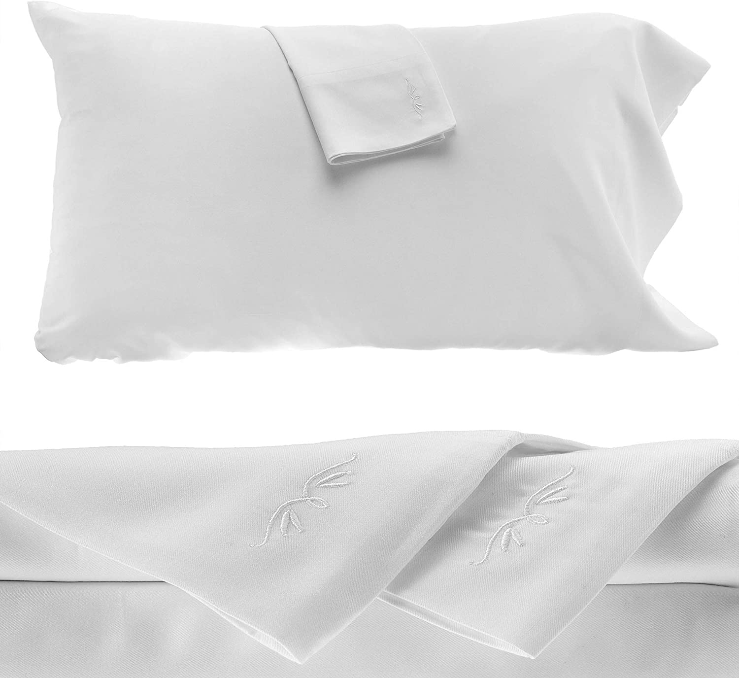 BedVoyage 100% Bamboo Sheet Set - Queen- Hypoallergenic - Rayon Viscose Bamboo (White) 4 Piece
