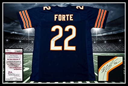Image Unavailable. Image not available for. Color  Matt Forte Autographed  Signed Chicago Bears Navy Jersey - JSA Authentic Memorabilia e473459e8