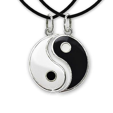 Pendentif yin yang homme argent