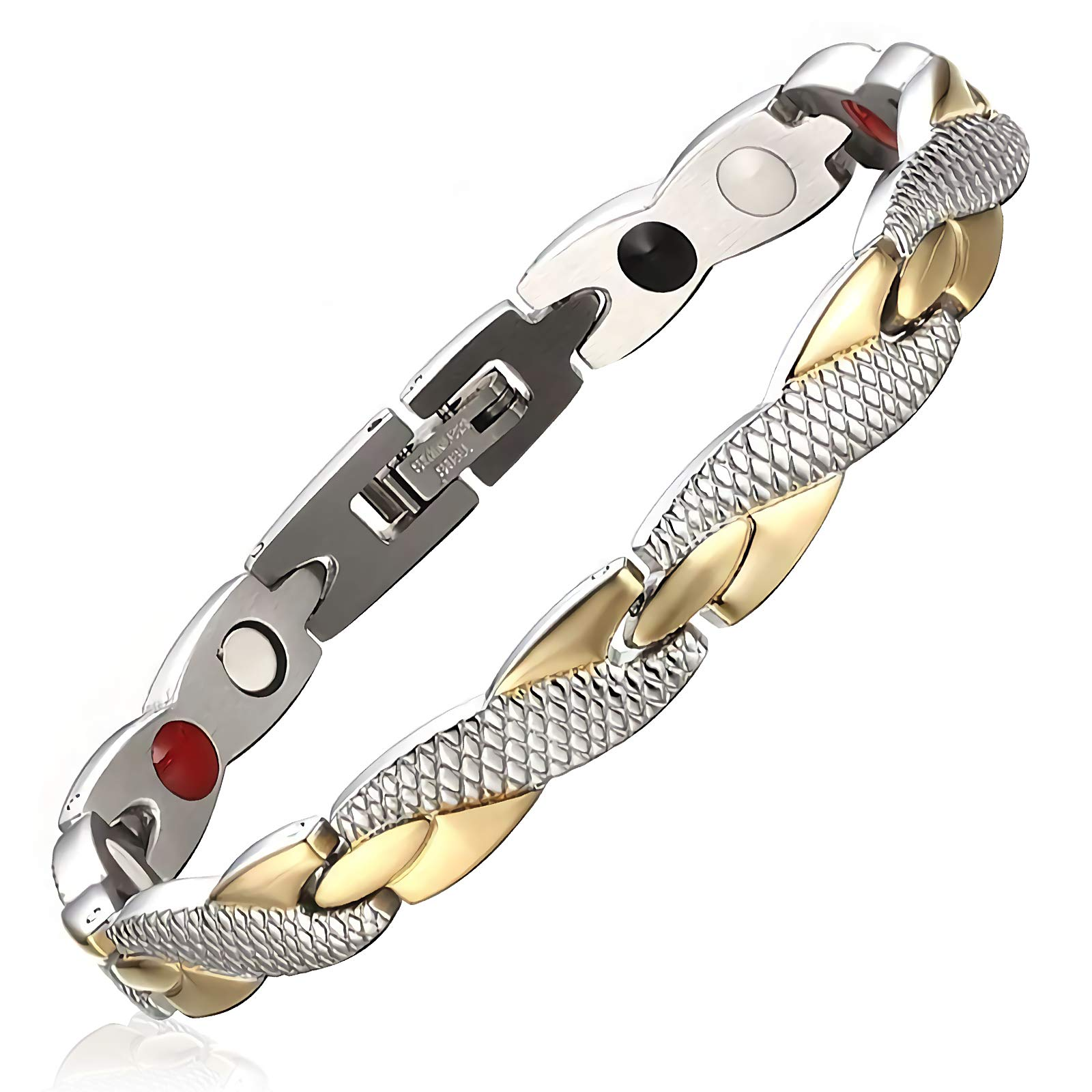Women's Fashion Twisted Healthy Magnetic Therapy Bracelet Pain Relief for Arthritis and Carpal Tunnel by HotTime