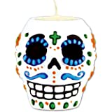 Day Of The Dead Male Tea Light Holder (tea light not included) Party Accessory  (1 count) (1/Pkg)