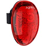 Aglaia テールライト LED自動点滅セーフティライト 防水 小型 電池式(電池付属) 自転車用