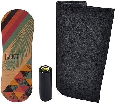 Sticker Free Trickboard Summer Balance Board Set: Board Carpet Logo Roller