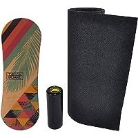 Trickboard Summer Balance Board Set: Board + Roller + Carpet + Sticker Free - Balance Training Skateboard Surfboard…