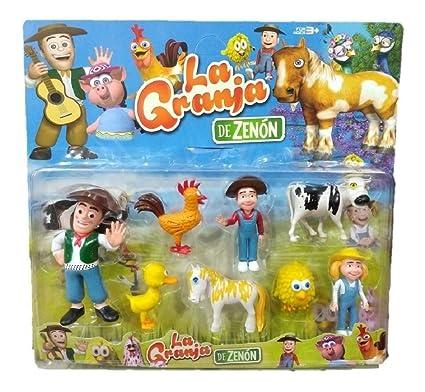 Amazon.com: La Granja de Zenon Set de 8 Figuras, Zenon ...