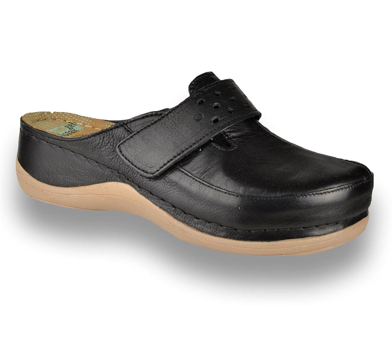 Leon Mules 902 Sabots Mules Chaussons Chaussures en 902 Cuir Dames Femme Dames Noir 9540ad7 - piero.space