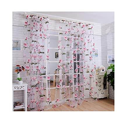 Amazon Floral Shower Curtain 100x200cm Buedvo Brilliant Peony