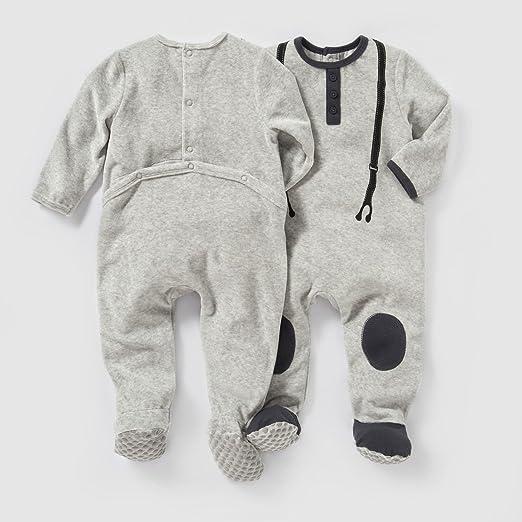 2ad59e8a4719d La Redoute Collections Enfant conf. De 2 Pyjama en Velours de 0 Mois à 3 Ans  - - 1 mois-54 cm  Amazon.fr  Vêtements et accessoires