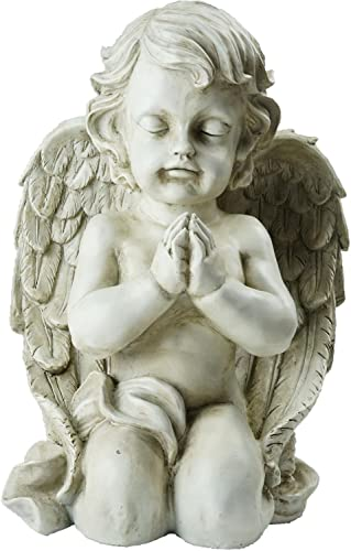 Northlight Kneeling Praying Cherub Angel Religious Outdoor Garden Statue