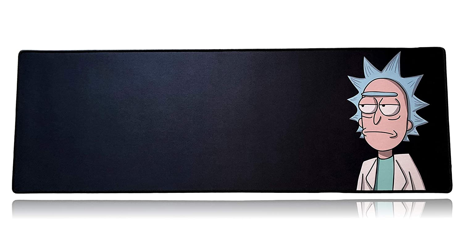 """Stitched Edges The Gamer Plug Gaming Mouse Wrist Rest Pad Black 8/"""" x 4/"""" x 0.9/"""" Mouse, Thick"""