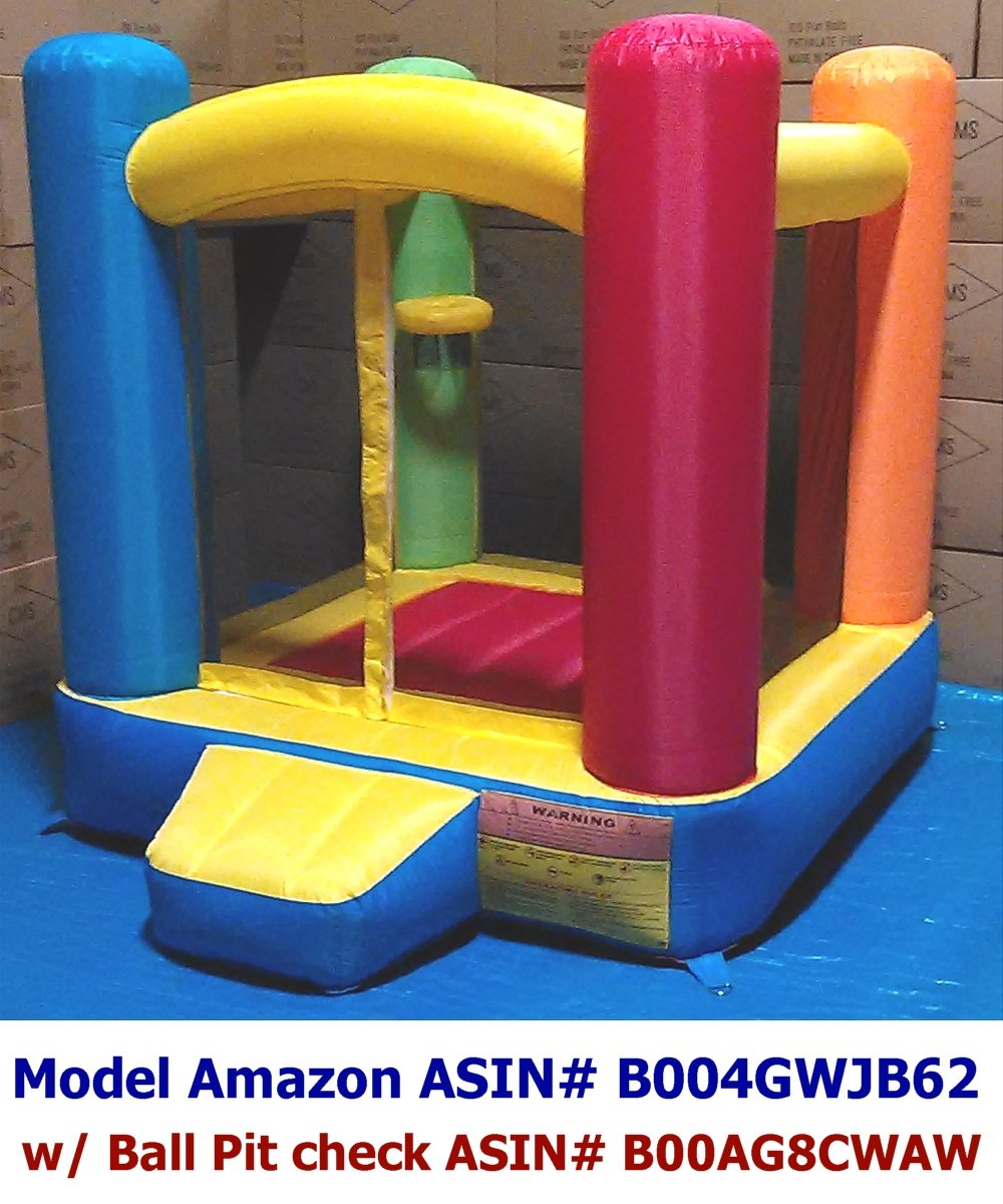 Amazon.com: My Bouncer Little Castle Bounce Ball Pit Popper with Non ...