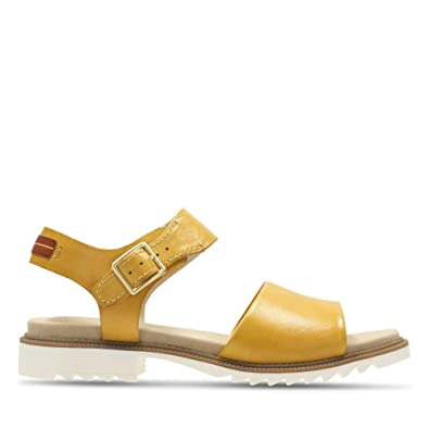 Clarks Ferni Fame Leather Sandals in Yellow  Amazon.co.uk  Shoes   Bags