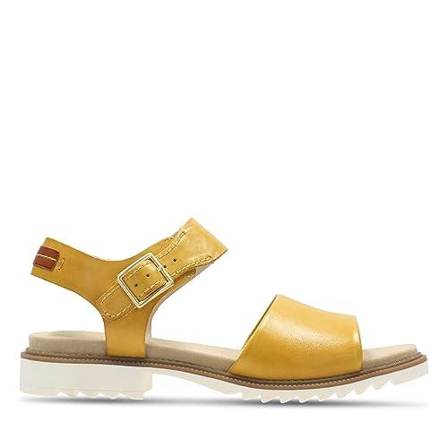 6257564e7468 Image Unavailable. Image not available for. Colour  Clarks Ferni Fame  Leather Sandals ...