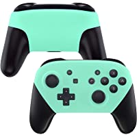 eXtremeRate Mint Green Faceplate and Backplate for Nintendo Switch Pro Controller, Soft Touch DIY Replacement Shell…