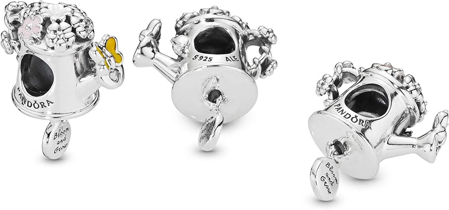 20pcs dark silver color  flower  watering can  design charms  EF2763