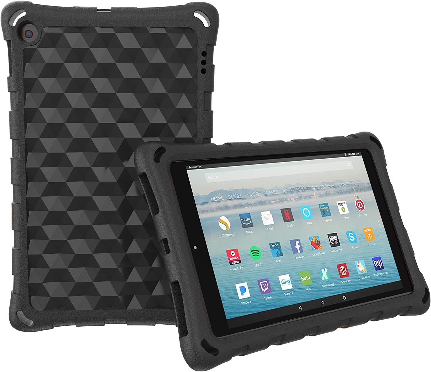 Case for All-New H D 10 Tablet (7th Generation and 9th Generation, 2017 and 2019 Release), Mr.Spades Light Weight Shock Proof Kids Friendly Cover, for 10.1