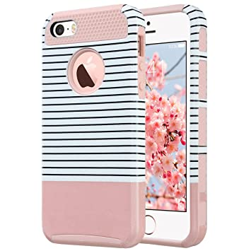 ULAK IPhone 5s SE Hülle, IPhone 5S Case Dual Layer Hybrid Schutzhülle Hart  PC +