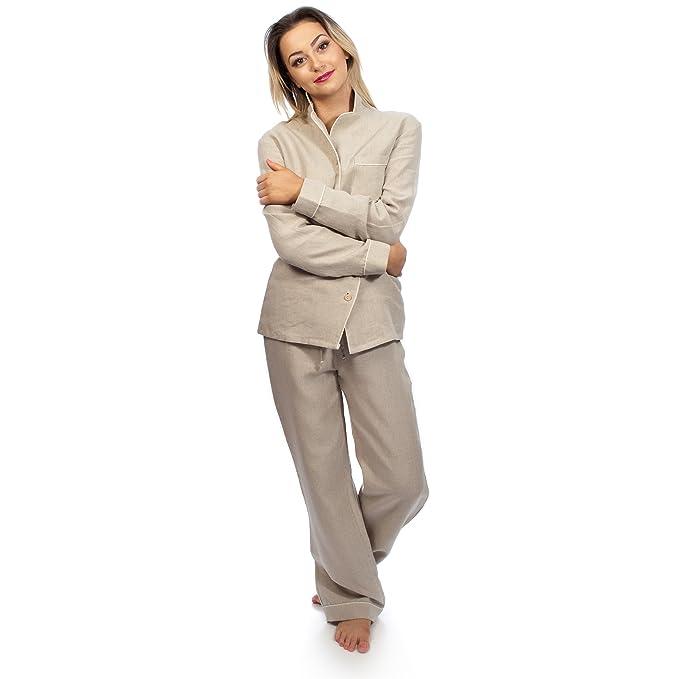 Aneesi Bath & Leisure - Pijama - Básico - para mujer Beige natural L