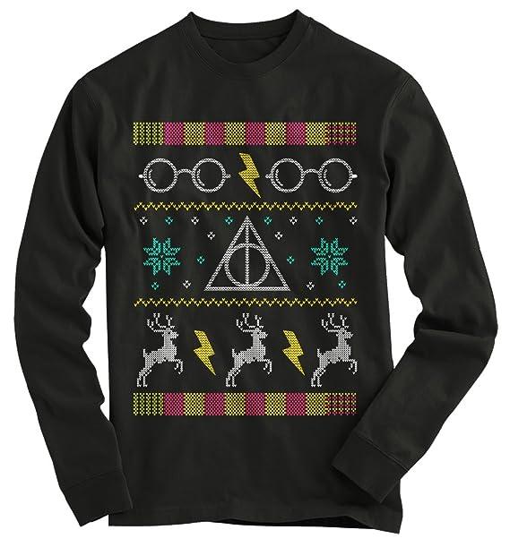 Harry Potter Christmas Shirt.Gnarly Tees Men S Harry Potter Glasses Ugly Christmas Sweater