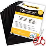 """Magnetic Sheets with Adhesive Backing - 10 PCs each 4"""" x 6"""" - Flexible Magnetic Paper for Craft and DIY - Peel and Stick Magn"""