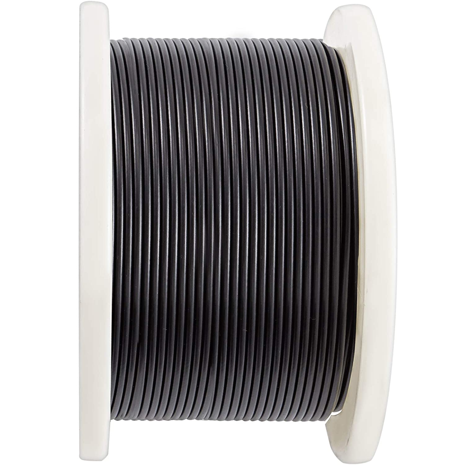 VEVOR Vinyl Coated Wire Rope 328Ft Reel Vinyl Coated Cable w// 7x7 Construction 1//16Inch Coated Dia 3//32Inch 304 Stainless Steel Wire Cable Wire Dia 372lbs Breaking Strength for Home Garden