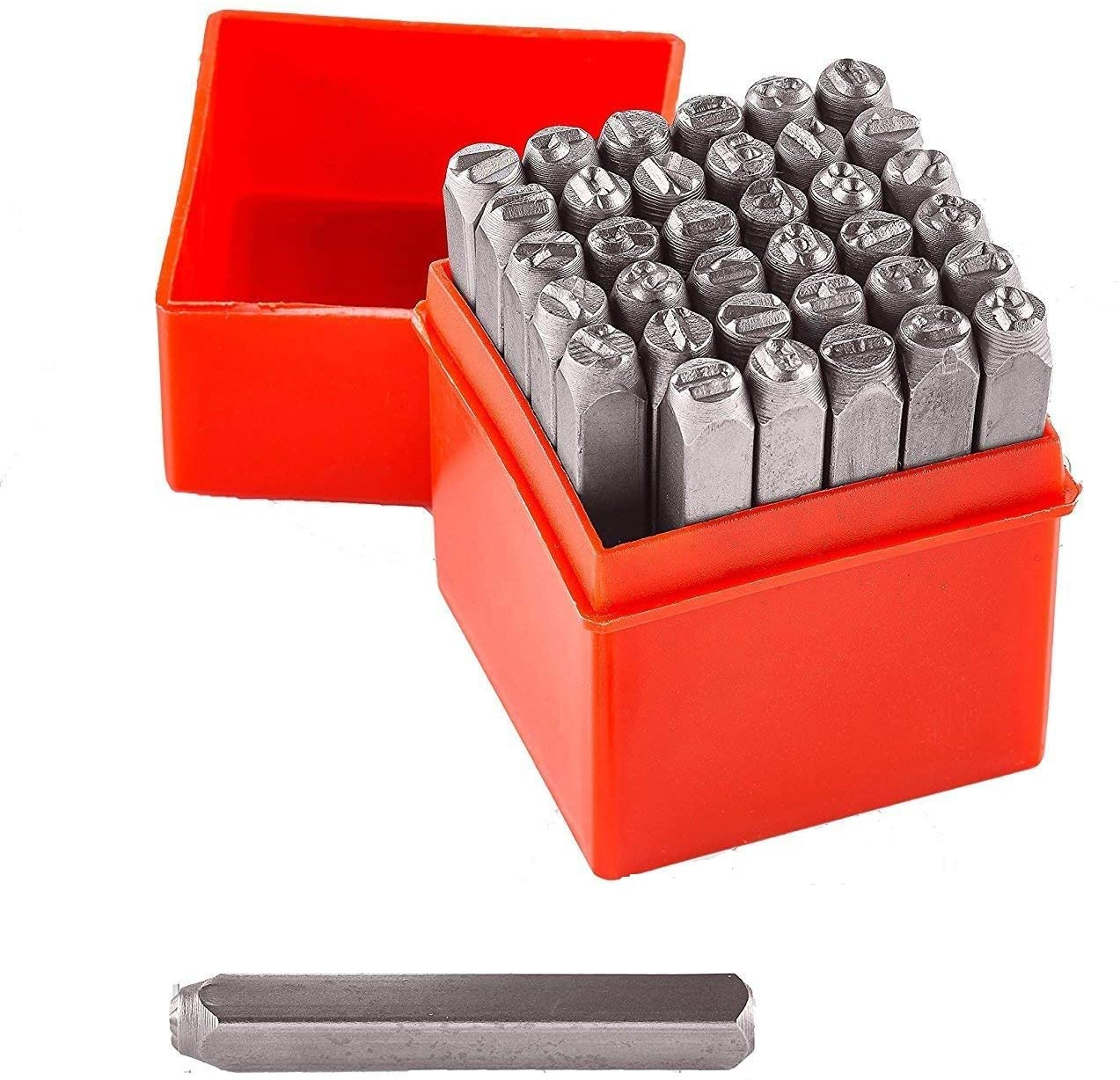 Professional 36 pcs Number /& Letters Stamp Punch Set 1//4