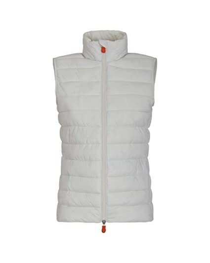 a56b8ce2629c0 Amazon.com  Save The Duck Women s Giga Vest Off White 2-M  Clothing
