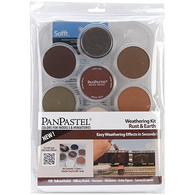 Colorfin PanPastel Ultra Soft Artist Pastel Set, 9ml, Weathering, Rust/Earth, 7-Pack