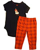 Carter's Unisex Baby Holiday Bodysuit and Pants Set