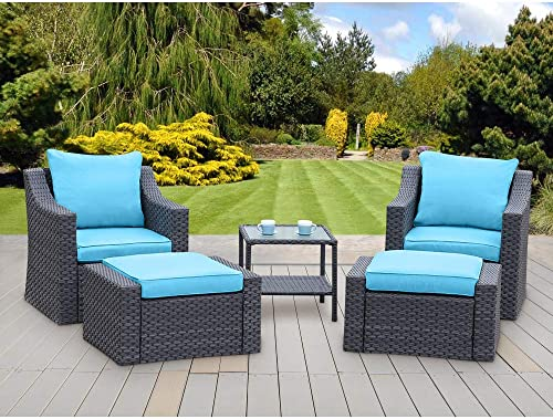 Stamo 5 Piece Outdoor Patio Conversation Furniture Set