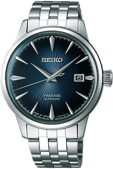 """1dc6010d7d8bc7 Seiko PRESAGE Automatic Blue Gradation Cocktail Time""""Blue Moon""""  SRPB41J1"""