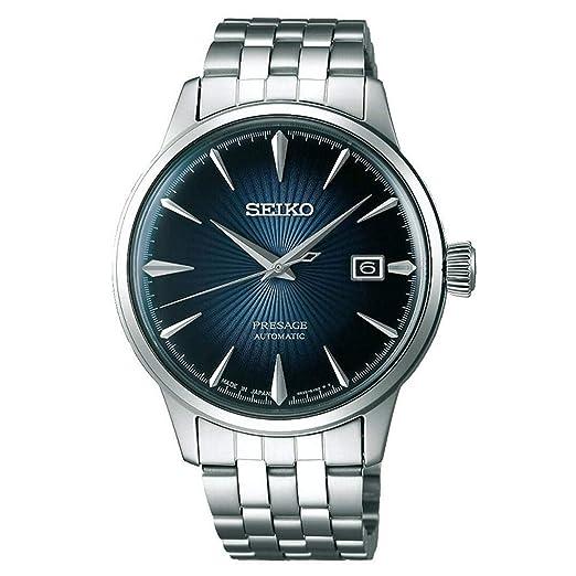 Seiko Reloj Analógico para Hombre de Automático con Correa en Acero Inoxidable SRPB41J1: Amazon.es: Relojes