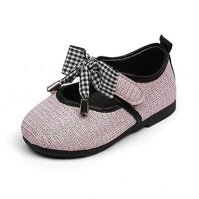 ba850861fde Image Unavailable. Image not available for. Color  Kinggolder Shoes Toddler  Girls Princess Pu Glitter Children ...