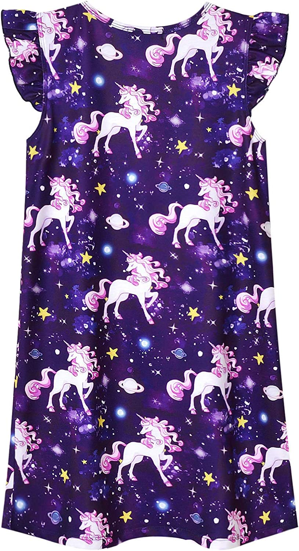 Jxstar Girls Unicorn//Mermaid//Flamingo Pajamas Cotton Print 3-13Years