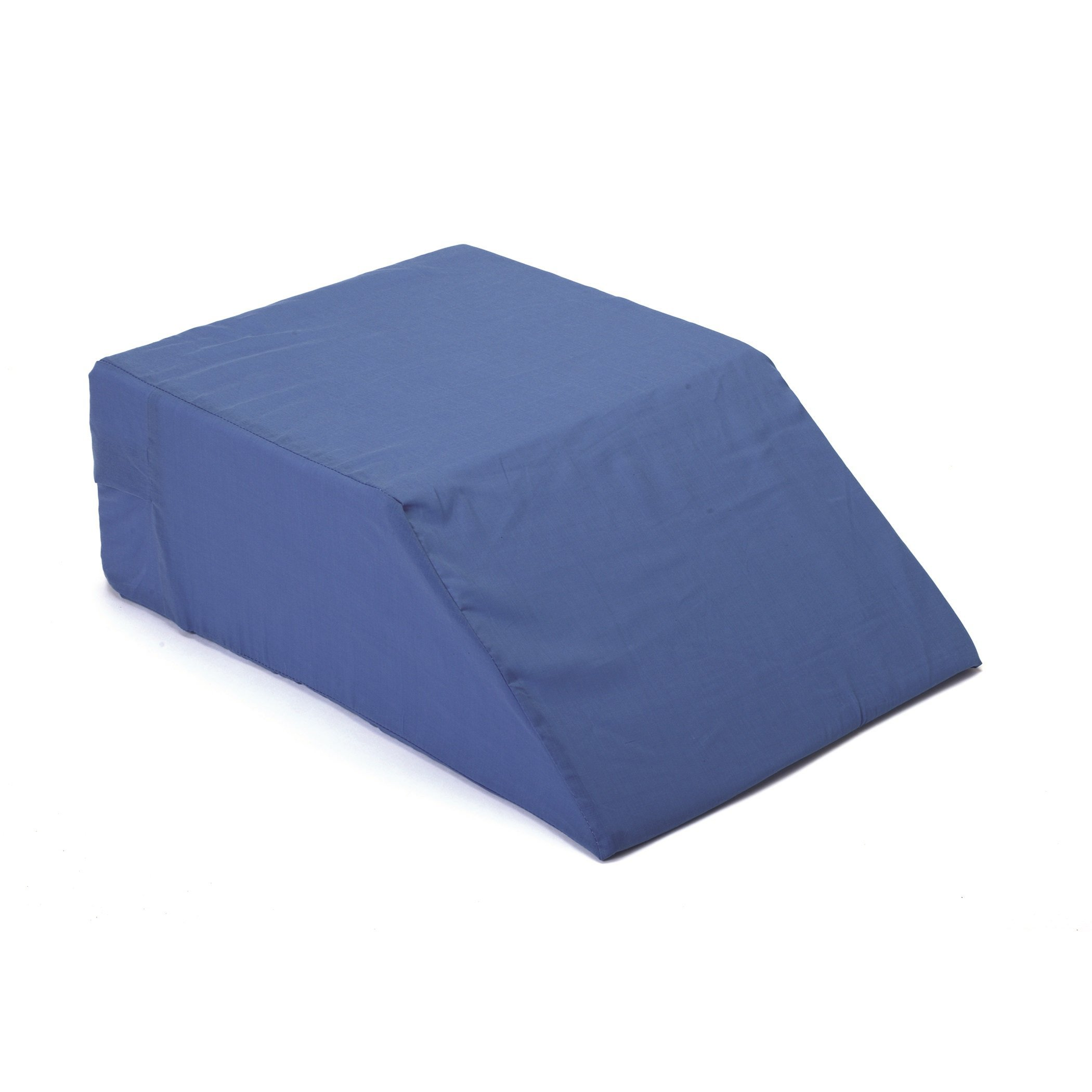Hermell Zero Gravity Elevating Leg Rest Pillow, Post-Surgery, Leg Pain, Back Injury, Sciatica Pain Relief, Removable Cover - Blue