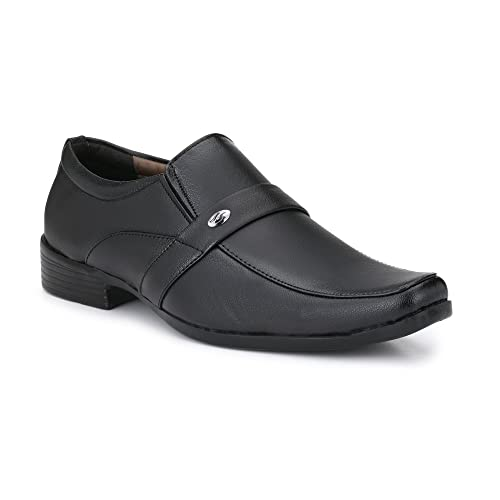 Fashion World Men S Faux Leather Black Formal Office Shoes 1027