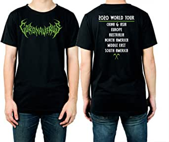 Amazon.com: Heavy Metal Coronavirus Rock Band T-Shirt