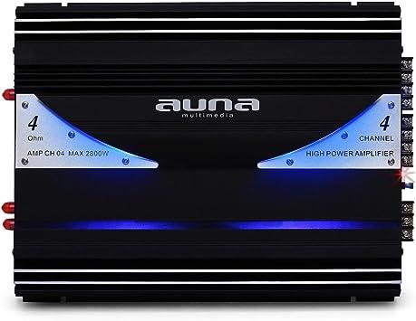 Auna AMP-CH04 Urban Edition - Amplificador para Coche HiFi, 2800W ...