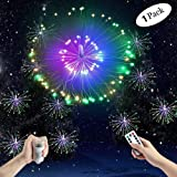Echosari [Remote, Timer, Dimmable] Fully Waterproof IP67 Battery Powered Branch Fairy String Lights, 8 Model, Indoor Outdoor Christmas Branch Lights Lamp , Hanging Exploding Starburst LED Fairy Lights, Creative Arts Branch Twinkle Led Lights for Home Wedding Party Christmas Garden Tree Bedroom Bar Decoration (Multi-color, Rainproof)
