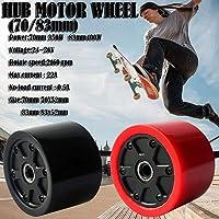 Gorgebuy Roues de Moteur de moyeu de Planche à roulettes - Kits de Roues de Moteur électrique sans Balai de Planche à roulettes électrique de 70 / 80mm - Roues de Moteur électrique Skateboard