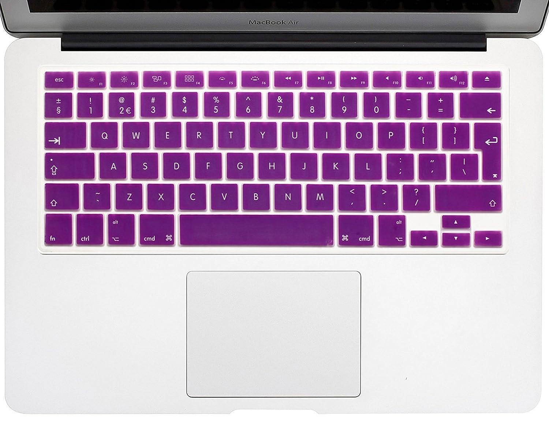 Teclado Europea Cubierta del Teclado MacBook Pro 13 15 17 /& MacBook Air 13 Cubierta del Teclado Mac Espa/ñol Silicona Skin Cyan