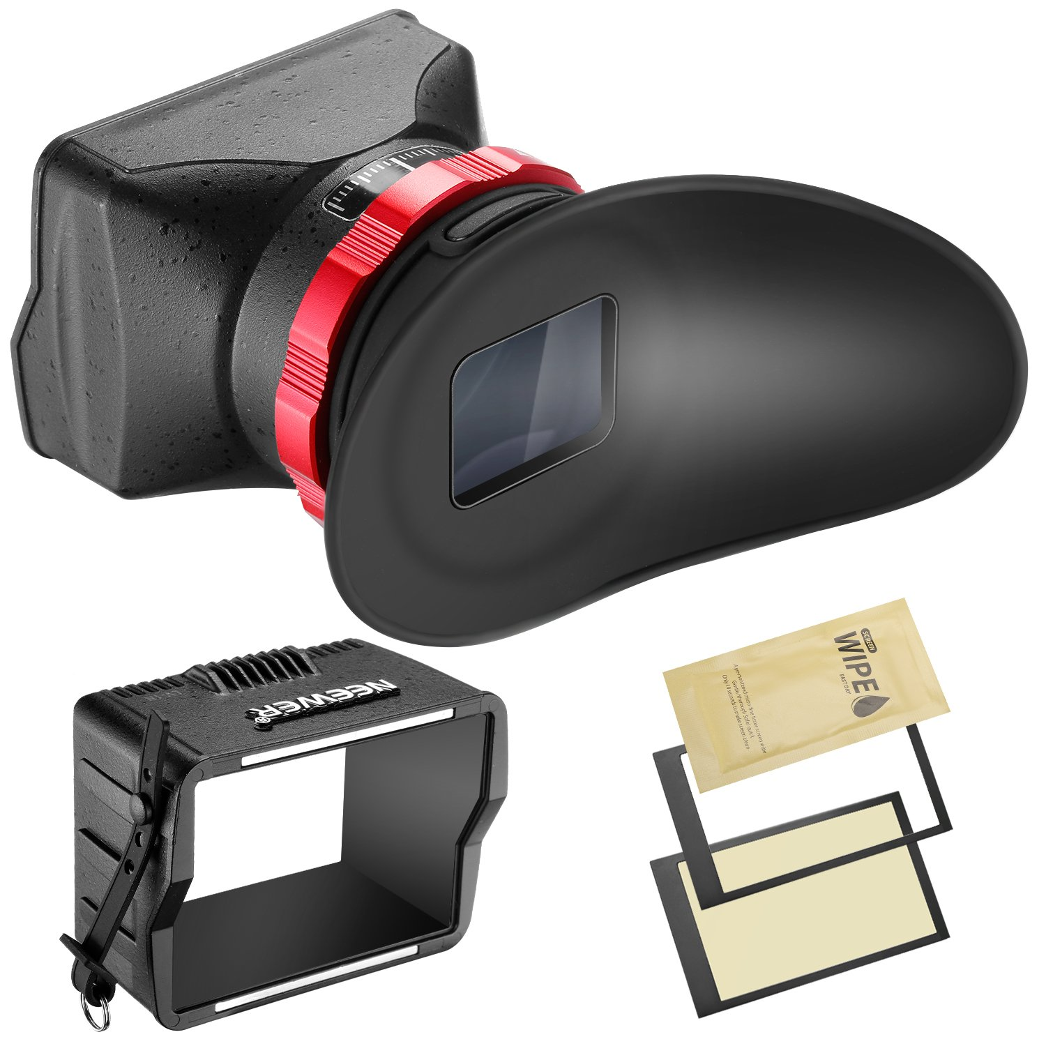 Neewer S7 3-in-1 Pro Optical Viewfinder,Screen Protector,Sunshade Hood with 3X Magnification for Sony A7RII, A7II, A7, A7R, A7M2, A7R2, A7M3, A7R3, A7s, A7s2, A7s3 and Other DSLRs with 3'' LCD Screen by Neewer (Image #2)