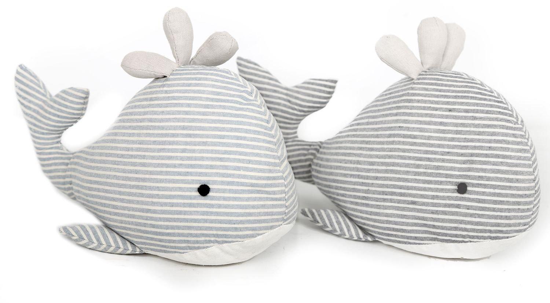 Buté e de porte en tissu en forme de baleine - buté e de porte en forme d' animal marin. Carousel Home