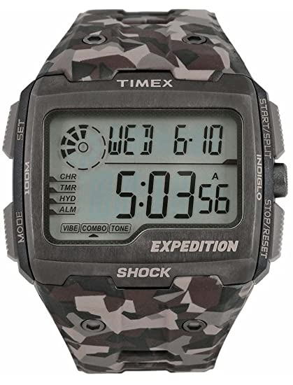 Timex Expedition Red Shock tw4b07300 Digital marrón reloj de camuflaje: Timex: Amazon.es: Relojes