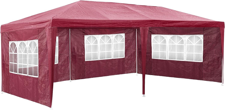 TecTake 800382 Carpa Pabellón 6x3m   5 Paneles Laterales   Tiendas Eventos & Fiestas Jardin (Rojo   No. 402305): Amazon.es: Jardín