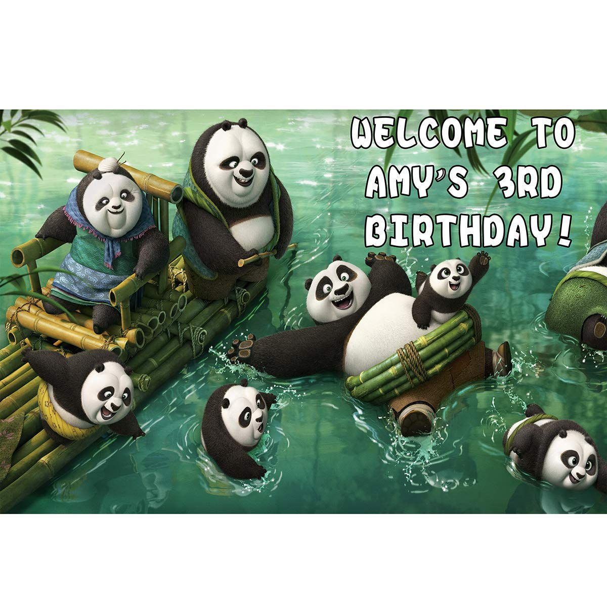 HoRmi Replacement for Kung Fu Panda Party Decoration Supplies Backdrop Customized for Birthday Decor Num605
